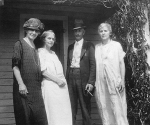 May Lieber, Aunt Ida Cutbirth, S.E. Keepers, and Laura Randall Keepers